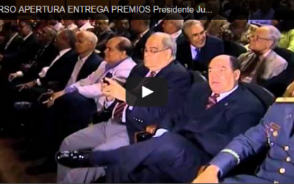 Discurso de Apertura Premios Presidente Juan Bosch. Cuarta Versión y Primera sobre Seguridad Via